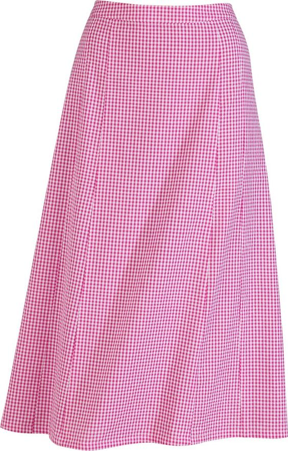 Women's Checkered Seersucker Pull-on Skirt $24.99 @ The Vermont Store. All I need to do is hem it!