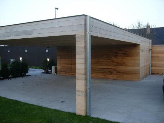 garage mit carport modern. Black Bedroom Furniture Sets. Home Design Ideas