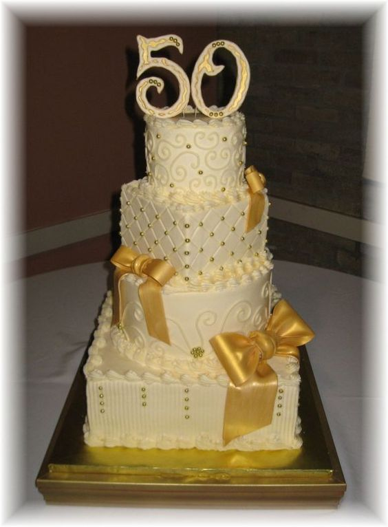 50th anniversary cakes anniversary cakes and 50th for Golden wedding anniversary gift ideas