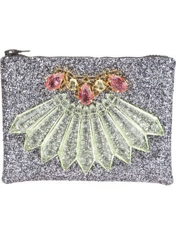 Mawi Embellished Glitter Clutch - Stockholm Market - Farfetch.com