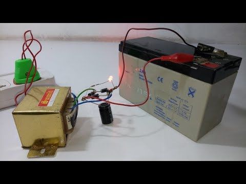 How To Make 12 Volt Battery Charger Easy Way Youtube Charger Battery Charger Technical Video