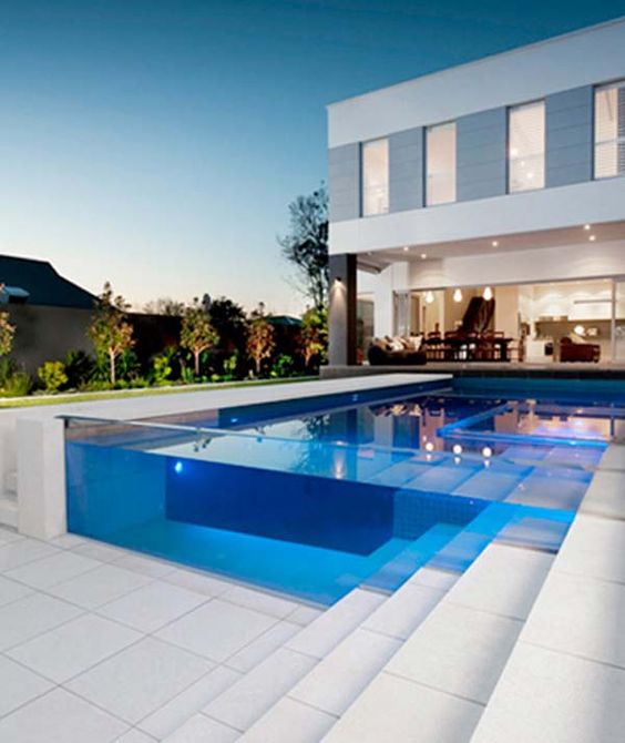 Transparent swimming pool piscinas for Pool design kg