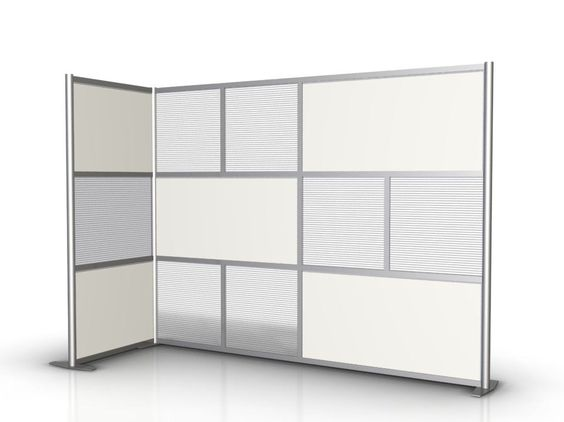 100 l x 35 w x 75 high l shaped room divider translucent white opaque products and room - Opaque room divider ...