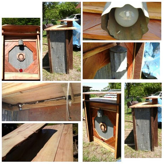 Hand crafted from reclaimed barn wood, tin and live bark cypress tops. Wired with outside and undercounter lights. Made in Indianola, Mississippi. Crafted by Tyronne Hayes with no design in mind. Will sale this one for $ 750.00 or build one just for you! Contact me at thelifeimade@gmail.com