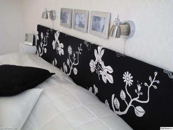 DIY Sänggavel Spånplatta, 2 st IKEA-sommartäcken, och lite tyg ...