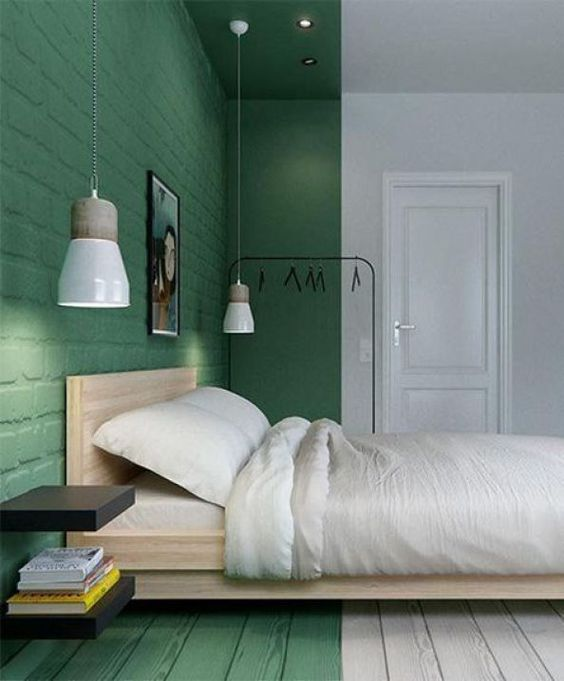 """Light Green"" - a Moodbord by the Interior-Design-Blog Leuchtend Grau http://www.leuchtend-grau.de/  #Green #wall #bedroom #minimalism:"