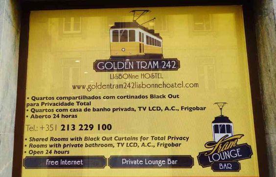 Lissabon: Hostel Golden Tram.
