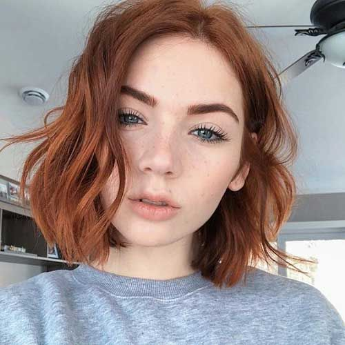 Wavy Bob Google Search Hair Styles Short Hair Styles Short Red Hair