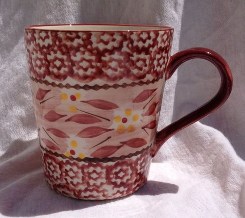 Temptations OLD World Cranberry Coffee MUG CUP Presentable Ovenware ...