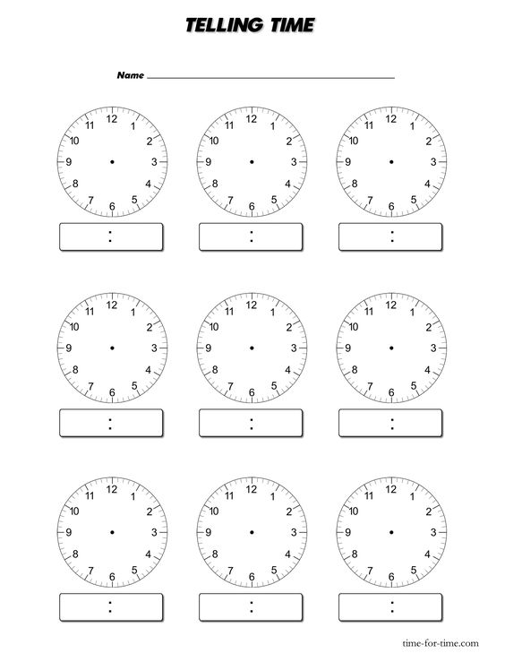 Worksheets Blank Clock Face Worksheet Printable blank digital clock worksheets back to school pinterest inspiring printable template images face face