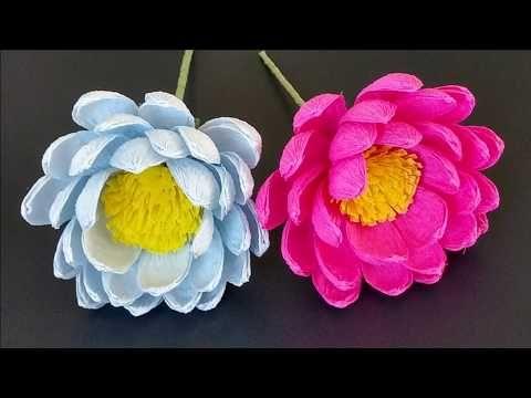 Latwe Kwiaty Z Krepiny Tutorial Flower Youtube Paper Flowers Diy Paper Flowers Paper Crafts