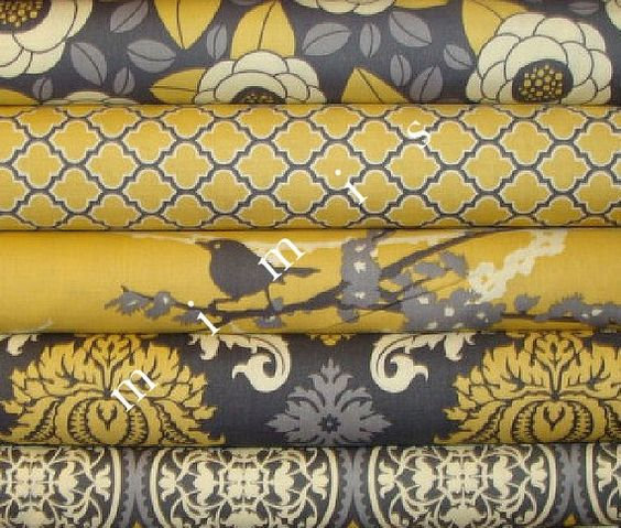 yard bundle joel dewberry fabric aviary 2 collection vintage yellow cotton quilt fabric. Black Bedroom Furniture Sets. Home Design Ideas