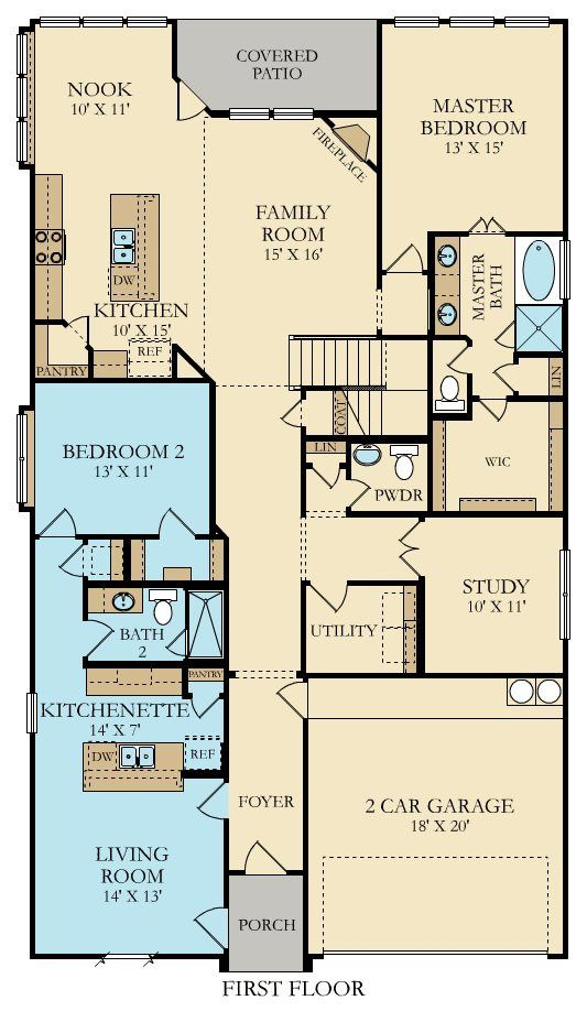 Floorplan With Mother In Law Apartment 1st Floor Overland Grove Forney In 2020 Mother In Law Apartment In Law House New House Plans
