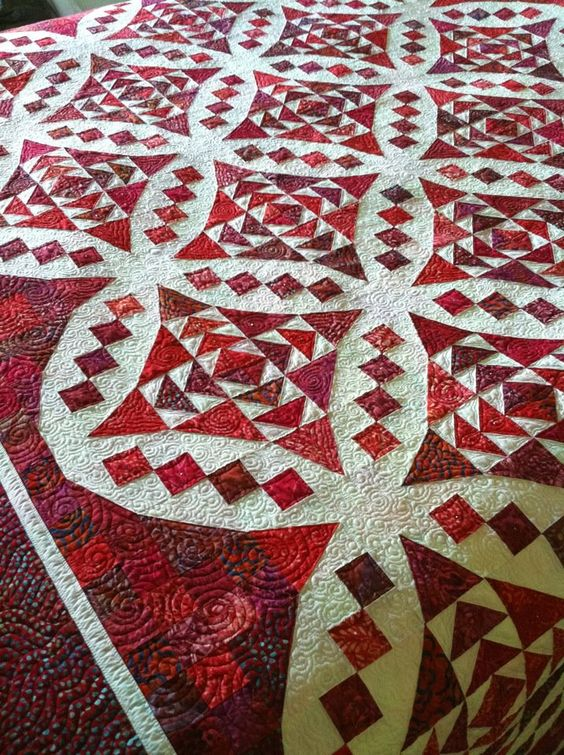Pattern Faceted Jewels by Glad Creations.  A great scrappy red and white quilt.