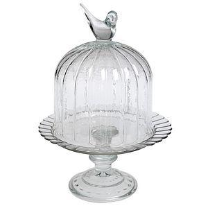 Mini Birdcage Cloche Glass Cake Stand