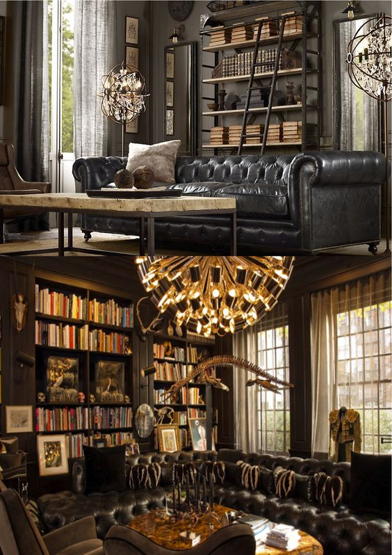 Cigar room classic and living rooms on pinterest - Salon de style anglais ...