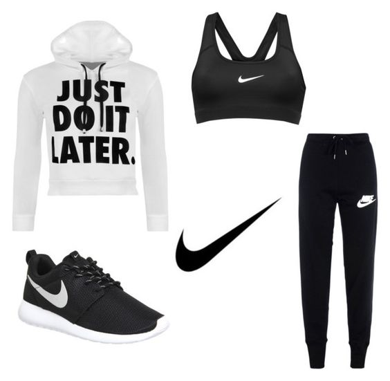 """""""Nike✔️"""" by dancemomsforev on Polyvore featuring NIKE, WearAll, women's clothing, women, female, woman, misses and juniors"""