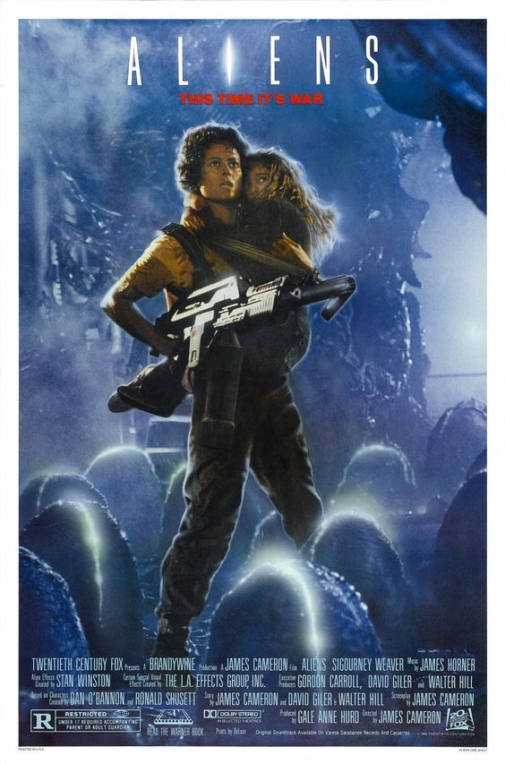 "Alien (1979), Aliens(1986), Alien³(1992) & ""Alien: Resurrection"" (1997), starring Sigourney Weaver."