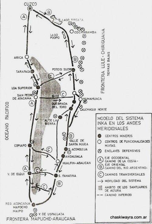 Mapa Del Sur Del Imperio Inca Imperio Inca Inca Y Cuzco