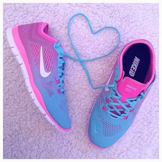Blue Ombre Nike Shoes Free Runs