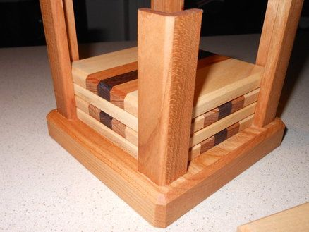 Coasters and vertical holder