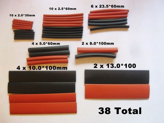 32 PC. Assortment Heat Shrink Tubing Shrinkable Wire Wrap Tubes Set #UnbrandedGeneric