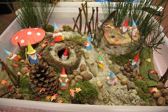 Zand en Zo! 'in het kabouterbos'. Voor suggesties klik dan op de nieuwsbrief van het Jonge Kind van IJsselgroep Educatieve dienstverlening
