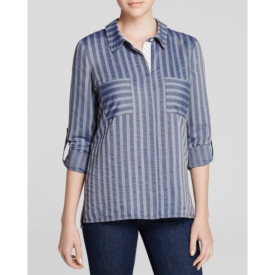Cooper & Ella Shirt - Emily Button Down (1.025 NOK) ❤ liked on Polyvore