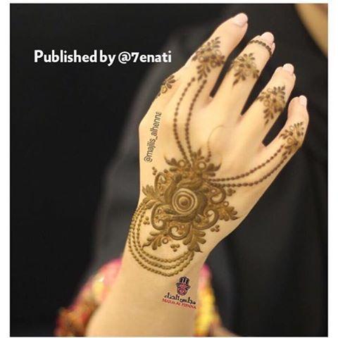 Instagram Photo By حساب خاص لعرض صور الحناء Jun 2 2016 At 6 53am Utc Mehndi Designs Mehndi Design Pictures Hand Henna