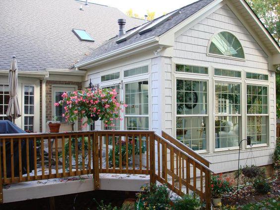 Greensboro winston salem sunroom 3 season room or 4 for Two story sunroom additions