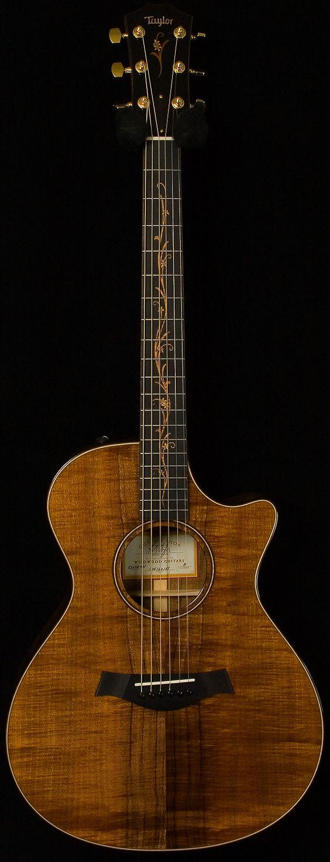 taylor - cv k22 ce, koa. beautiful fingerboard inlay. One of my dream Acoustic!