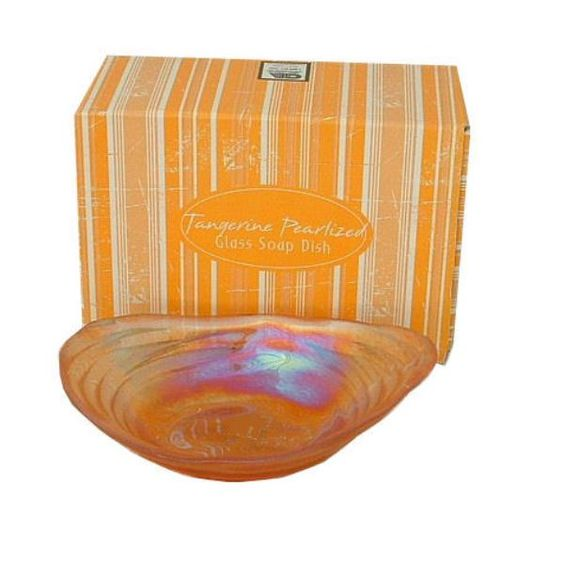 Pearlized Glass Soap Dish