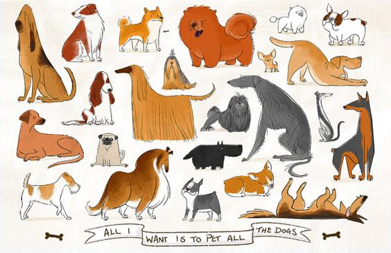 All I Want Is To Pet All The Dogs With Text By Daviddillustration