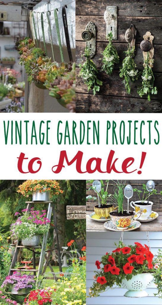 Vintage Garden Diy Projects Diy Projects Landscaping Diy Garden Projects Diy Projects Vintage
