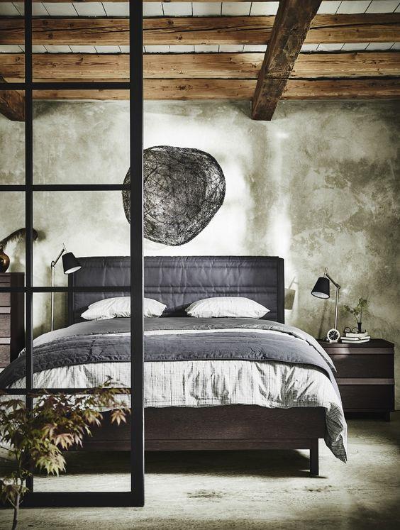 Slaapkamer met Oosterse sfeer - bed IKEA OPPLAND #ikea #bedroom  @ ...