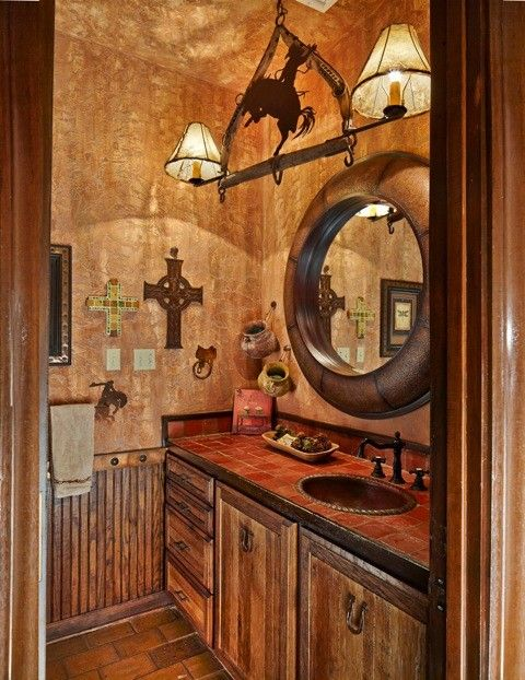50 Half Bathroom Ideas That Will Impress Your Guests And Upgrade Your House Western Bathroom Decor Western Bathrooms Western Home Decor