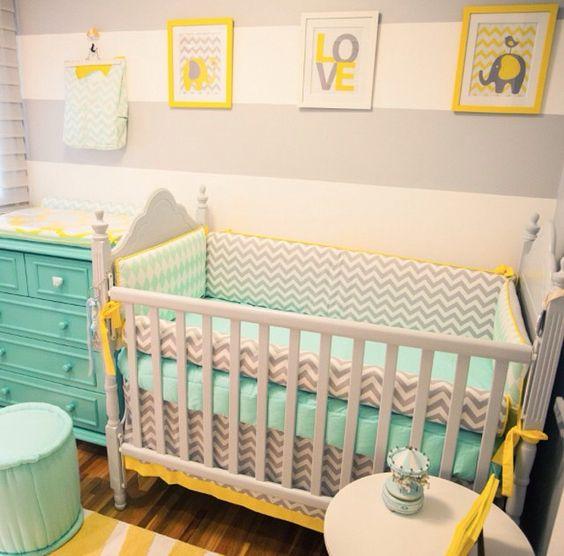 Explore Quarto Bebe Amarelo Quartos Quartos E Muito Mais~ Decoracao De Quarto Azul E Amarelo