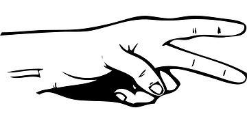 Hand, Scissor, Fingers, Human, Cut