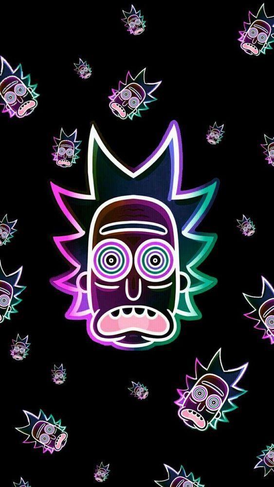 Neon Rick Sticker By Kingart1520 White 3 X3 In 2020 Rick