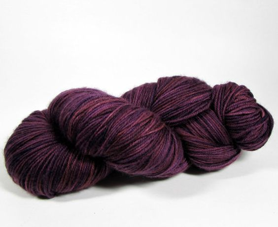 Hand Dyed Sock Yarn Fingering Weight Superwash by DyeIsCastYarns