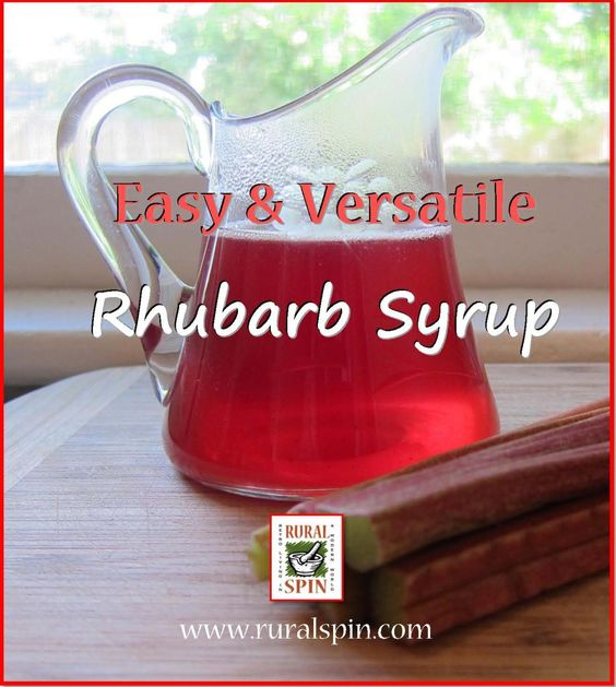 Rhubarb syrup from Rural Spin is easy and versatile in many recipes.