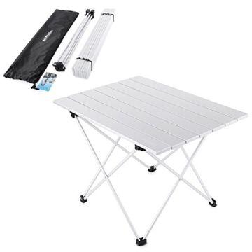 Yahill Campingtisch Alu Klapptisch Aluminium Ideal Reisetisch Falttisch Gartentisch Klappbar Tisch Fur Camping Ou Camping Tisch Alu Klapptisch Camping Zubehor