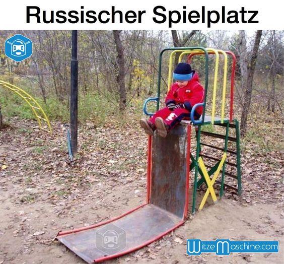 Russische Spielplatz - Senkrechte Rutsche - Russenwitze - Funny Russian Fail