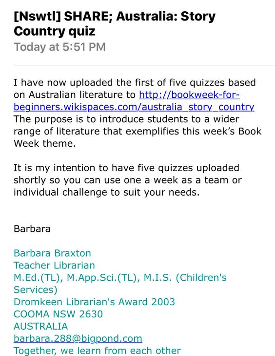 Barbara Braxton Has Recently Added Quizzes On Australia To The