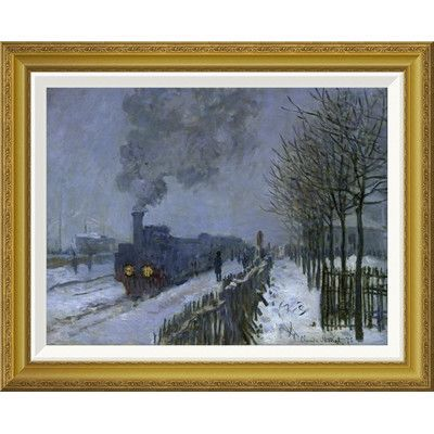 Global Gallery 'Train in the Snow, 1875' by Claude Monet Framed Painting Print Size: