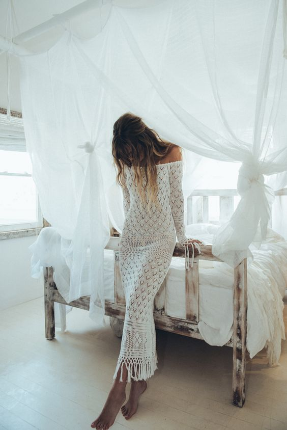 Robe longue et légère en design floral