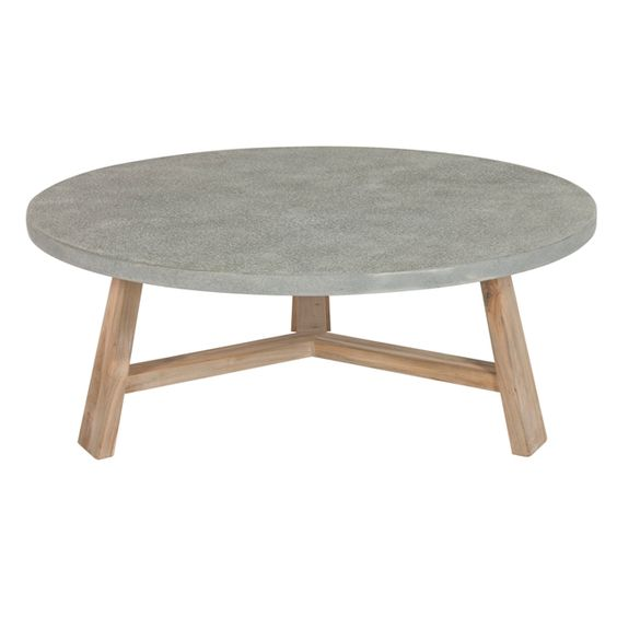 Round concrete coffee table could build one like this with for Table design view