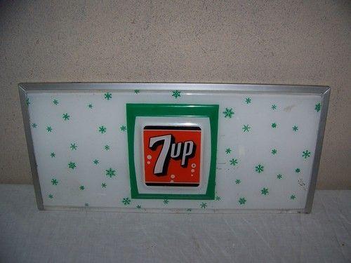 vintage soda machine panel