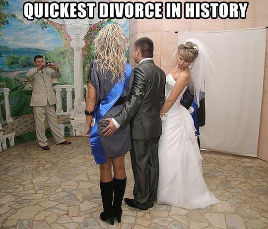 Quickest divorce in history…