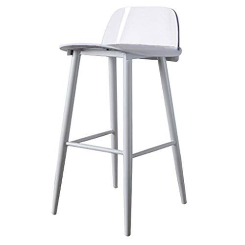 Fixed Height Bar Chair No Rotatable Bar Stools Plastic Footstool Household Dining Room Kitchen Cafe Seat Crystal Back High Cafe Seating High Stool Bar Stools